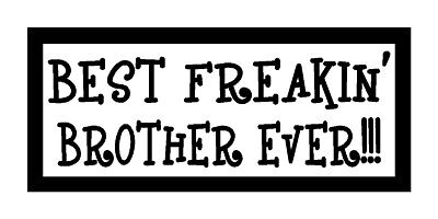 Best Freakin' Brother Ever!!! Fun Unique Family Gift Magnet for Fridge Or Car (Fun Car Magnets)