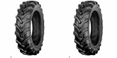 Two 9.5x22 9.5-22 Kubota M4700 6 Ply R 1 Bar Lug Tractor Tires Tubeless