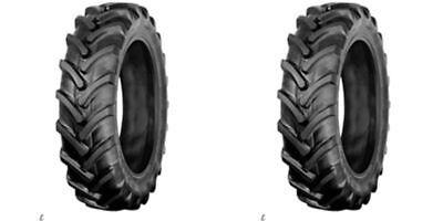 Two 8x16 R1 Bar Lug Terramite Backhoe Fits Kubota Deere Tractor Tires 8-16