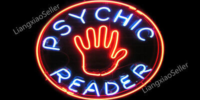 17x14 Psychic Read Open Business Store Beer Bar Real Neon Light Sign Free Ship