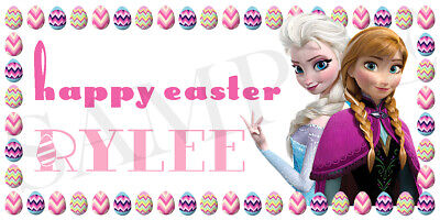 Frozen Easter Basket Sticker, Waterproof and Personalized, Elsa and Anna Sticker - Anna And Elsa Halloween