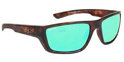 New Polarized Calcutta Shock Wave Sunglasses Tortoise Green Mirror (Shock Sunglasses)