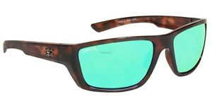 New Polarized Calcutta Shock Wave Sunglasses Tortoise Green Mirror SW1GMTORT