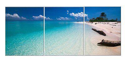 3 Panels Wall Art Canvas Framed Home Decor Painting Prints Modern Abstract Beach