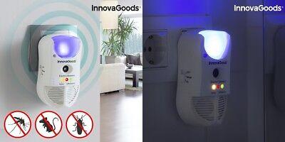 5in1 Ultraschall Schädlingsvertreiber LED und Sensor bei Insekten Mäuse Ameisen