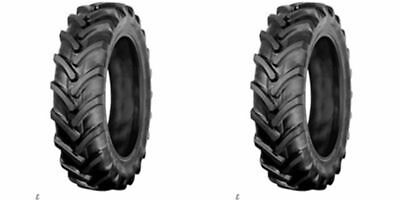 Two 7-16 7x16 Backhoe Compact Tractor Farm Tires Ag R-1 Lug 6 Ply Tubeless Tires