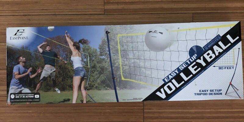 NIB Eastpoint Volleyball Net Easy Setup Includes Carry Bag