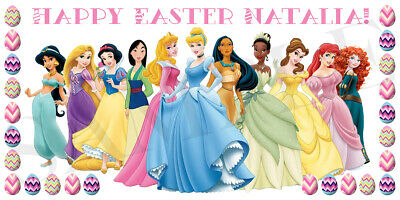 Disney Princess Easter Basket Sticker, Waterproof and Personalized ](Halloween Baskets Personalized)