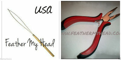 Feather And Hair Extension Tools, THREADING TOOL AND PLIERS Tool Kit L2 for sale  Shipping to India