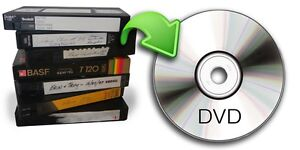 Video conversion service. VHS/Video8/8mm to digital DVD