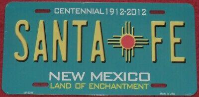 Nummernschild Santa Fe New Mexico Teal  30x15cm USA License Plate Blechschild