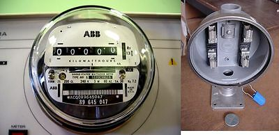 120v 240v Abb Elster Electric Watthour Meter 100amp Socket Sub-meter Rv Home