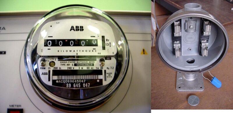 120v 240v ABB Elster Electric WATTHOUR METER & 100amp SOCKET Sub-Meter RV Home