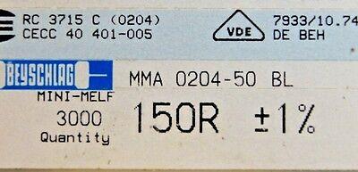 1000pcs Resistor Smd 150 Ohm Minimelf 50ppm 1 0.4w Mma020450bl 150r Beyschlag
