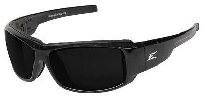 Edge Eyeware Hz116-sp Caraz Safety Glasses Black Frame Strap Smoke Vapor Shiel