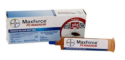 12 tubes & 12 Plungers Maxforce FC Magnum Cockroach Roach Control Gel Bait