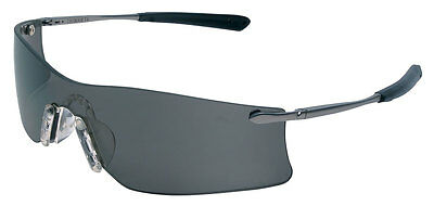 CREWS RIMLESS SAFETY GLASSES RUBICON GRAY ANTI-FOG LENS NEW