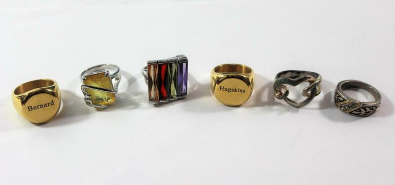 Vintage Costume Ring Lot ~ 6 Pieces Sizes 9 9.5 and 10