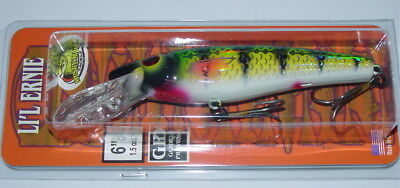 "6/"" Jointed Little Ernie Musky Mania Pike Lure Lemon Head JLE-46 Drifter Tackle"