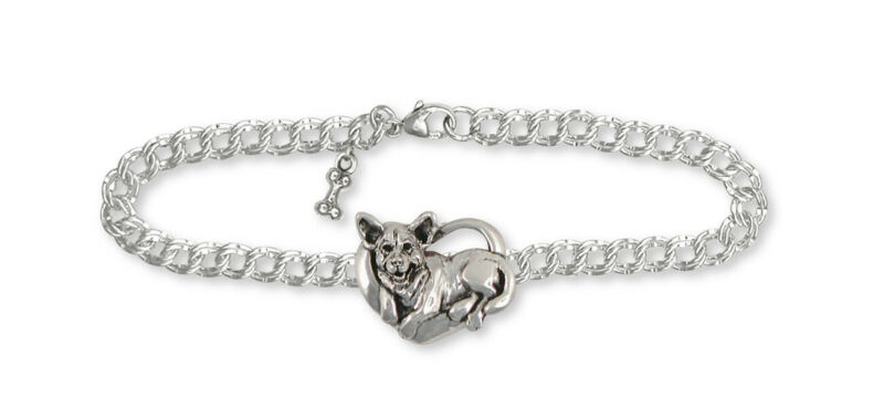Australian Cattle Dog  Bracelet Jewelry Sterling Silver Handmade Dog Bracelet AC