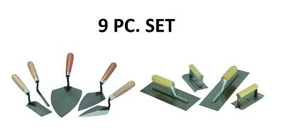9 Piece Concrete Cement Hand Trowel Finishing Tool Set Free Ship Usa Seller