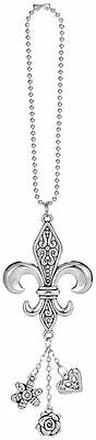 Car Charm - Fleur De Lis - Hang from Your Rear View Mirror!