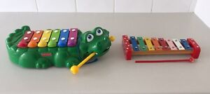 Fisher Price Alligator Xylophone and Wooden Xylophone Butler Wanneroo Area Preview