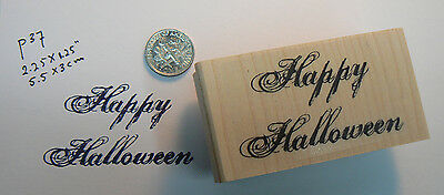 P37 Happy Halloween font style rubber stamp WM