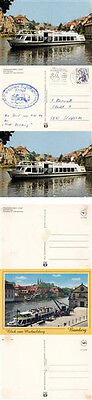 GERMAN RIVER CRUISE SHIP MS STADT BAMBERG 3 COLOUR POSTCARDS