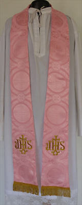 Rose Color Stole Lent chasuble robe clergy minister priest vestment church