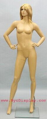 New 5 Ft 10 In Female Mannequin Skin Tone Face Make Up Torso Body Form Sfe-51ft