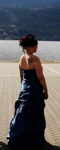 Navy Blue Cinderella Prom Dress