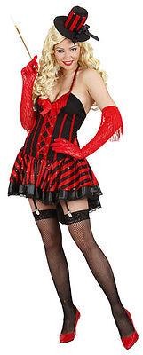 Sexy Burlesque Kostüm Showgirl schwarz-rot NEU - Damen Karneval Fasching Verklei