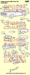 1968-1970 Dodge Coronet & Superbee Restoration Panels London Ontario image 4