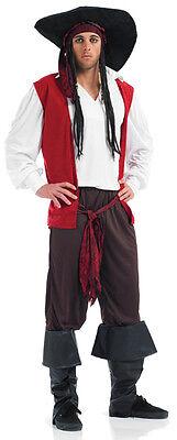 Herren 6 Teile Piraten Bösewicht Kostüm Kleid Outfit - Herren Bösewicht Kostüme