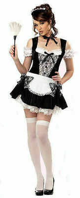 Halloween Women's French Kiss Costume 00979 Party Maid Cosplay Last Size Medium - French Kiss Costume Halloween