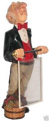 Connoisseur Statue With Menu Board - Butler Statue - Food Sign - Waiter W Menu