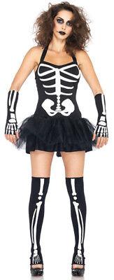 Leg Avenue Sexy Skeleton Costume Glow in the Dark S/M UK 8 10 Zombie](Glow In The Dark Skeleton Leggings)