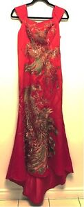 Traditional Red Chinese Cheongsam Dress