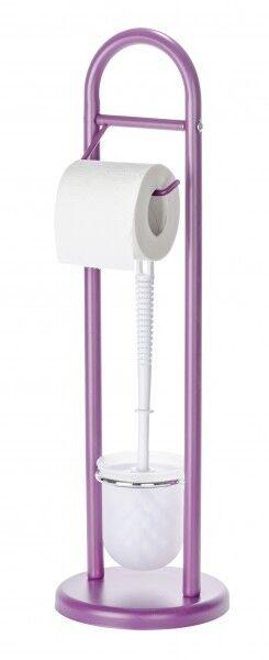 WENKO Stand WC Garnitur lila WC-Bürste & Rollenhalter Toilettenpapierhalter NEU