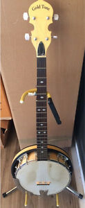 Gold Tone 5 string banjo with HSC CC-100