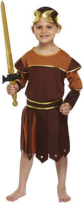GREEK ROMAN SOLDIER/WARRIOR/GLADIATOR FANCY DRESS OUTFIT/COSTUME AGE 10-12 NEW ()