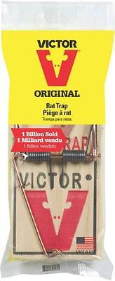 NEW LOT OF (6) VICTOR M200R ORIGINAL WOODEN SNAP SPRING RAT TRAPS 7187040