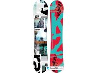 K2 Snowboard, Burton Bindings & Board Bag
