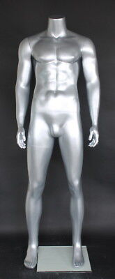 5 Ft 9 In H Male Headless Mannequinmuscular Body Shape Matte Silver Stm051stnew