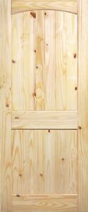 2-PANEL-ARCH-TOP-V-GROOVE-KNOTTY-PINE-STAIN-GRADE-SOLID-CORE-INTERIOR-WOOD-DOORS