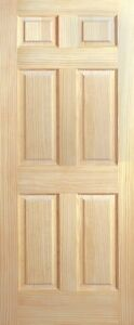 6 Panel Raised Eastern Clear Pine Stain Grade Solid Core Wood Interior Doors 68