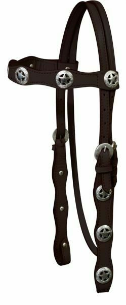 Western Leather Headstall w// Silver Engraved Heart Conchos /& Reins