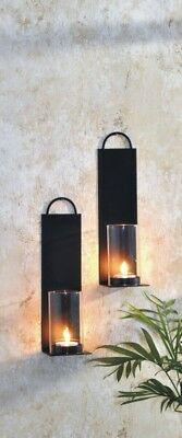 2er Set Wandkerzenhalter Kerzenhalter Wandleuchter Teelichthalter Windlicht Deko