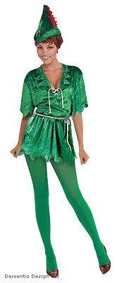 LADIES PETER PAN ROBIN HOOD ELF BOOK WEEK FANCY DRESS COSTUME OUTFIT NEW - Peter Pan Ladies Costume